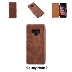 Samsung Galaxy Note9 Pasjeshouder Bruin Booktype hoesje - Magneetsluiting - Kunststof;TPU