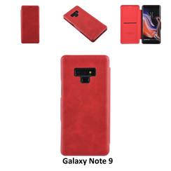 Samsung Galaxy Note9 Titulaire de la carte Rouge Book type housse - Fermeture magnétique