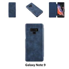 Samsung Galaxy Note9 Titulaire de la carte Bleu Book type housse - Fermeture magnétique