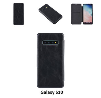 Samsung Galaxy S10 Card holder Black Book type case for Galaxy S10 Magnetic closure