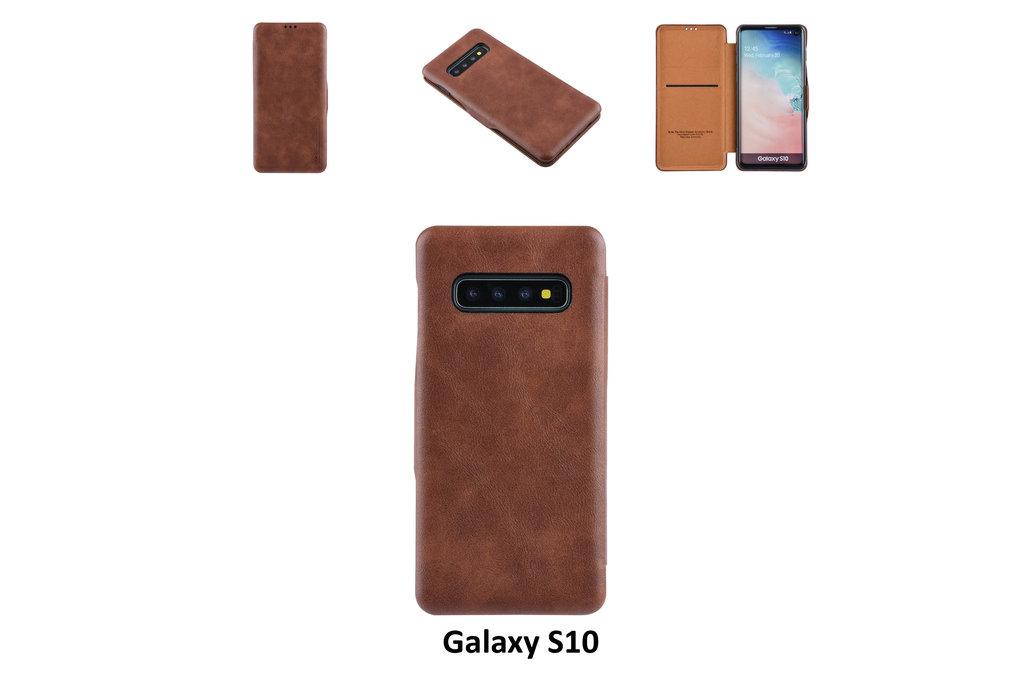 UNIQ Accessory Book Case for Galaxy S10 - Brown