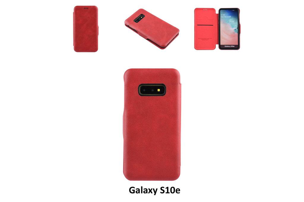 UNIQ Accessory Samsung Galaxy S10e Pasjeshouder Rood Booktype hoesje - Magneetsluiting - Kunststof;TPU