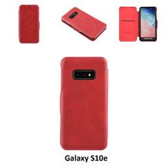 Samsung Galaxy S10e Titulaire de la carte Rouge Book type housse - Fermeture magnétique