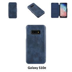 Samsung Galaxy S10e Pasjeshouder Blauw Booktype hoesje - Magneetsluiting - Kunststof;TPU