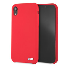Apple BMW back cover Rouge pour iPhone XR - Silicone