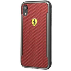 Apple Ferrari Back Cover Rouge pour iPhone XR - On Track PU Rubber