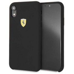 Apple Zwart Ferrari Back Cover voor iPhone XR - SF Silicone