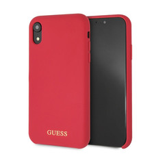 Apple Guess Coque Rouge pour iPhone XR - Silicone