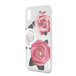Apple Guess Coque Clear pour iPhone XR - Flower Desire