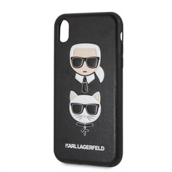 Apple Karl Lagerfeld Coque Noir pour iPhone XR - Embossed PU