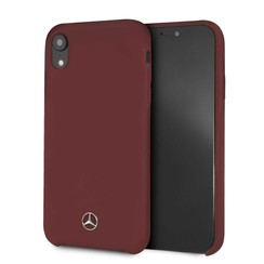 Apple Mercedes-Benz Coque Rouge pour iPhone XR - Silicone