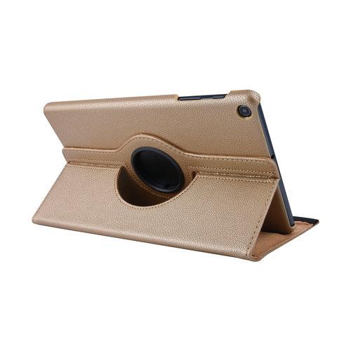 Andere merken 360° Draaibaar Book Case Tablethoes voor Samsung Tab A 10.1 (2019) (T515) -2 kijkstanden - Gold