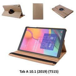 360° Draaibaar Book Case Tablethoes voor Samsung Tab A 10.1 (2019) (T515) -2 kijkstanden - Gold