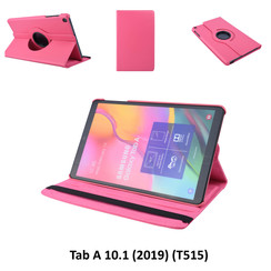 360° Rotatable Hot Pink Book Case Tablet for Tab A 10.1 (2019) (T515) 2 Viewing Positions