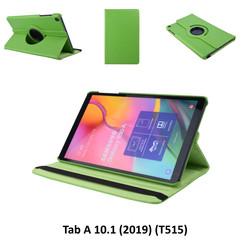 360° Draaibaar Groen Book Case Tablethoes voor Samsung Tab A 10.1 (2019) (T515) -2 kijkstanden - Kunstleer