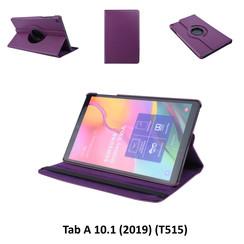 360° Draaibaar Paars Book Case Tablethoes voor Samsung Tab A 10.1 (2019) (T515) -2 kijkstanden - Kunstleer
