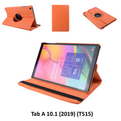 360° Rotatable Orange Book Case Tablet for Tab A 10.1 (2019) (T515) 2 Viewing Positions