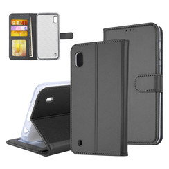 Samsung Galaxy A10 (2019) Card holder Black Book type case for Galaxy A10 (2019) Magnetic closure