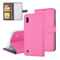 Samsung Galaxy A10 (2019) Pasjeshouder Hot Pink Booktype hoesje - Magneetsluiting - Kunststof;TPU