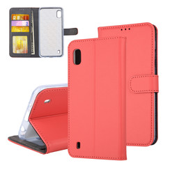 Samsung Galaxy A10 (2019) Card holder Red Book type case for Galaxy A10 (2019) Magnetic closure