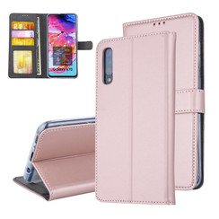Pasjeshouder Rose Gold Book Case voor Samsung Galaxy A70 -Magneetsluiting -