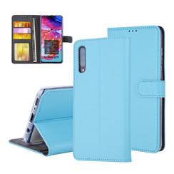 Pasjeshouder Blauw Book Case voor Samsung Galaxy A70 -Magneetsluiting -