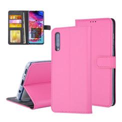 Pasjeshouder Hot Pink Book Case voor Samsung Galaxy A70 -Magneetsluiting -