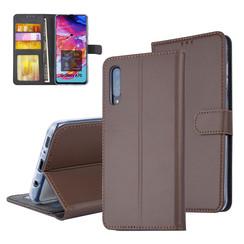 Pasjeshouder Bruin Book Case voor Samsung Galaxy A70 -Magneetsluiting -