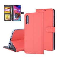 Samsung Galaxy A70 Card holder Red Book type case for Galaxy A70 Magnetic closure