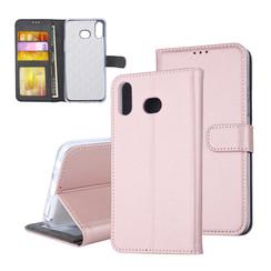 Samsung Galaxy A6s Titulaire de la carte Rose Or Book type housse - Fermeture magnétique