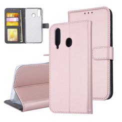 Samsung Galaxy A8s Titulaire de la carte Rose Or Book type housse - Fermeture magnétique