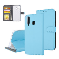 Samsung Galaxy A8s Pasjeshouder Blauw Booktype hoesje - Magneetsluiting - Kunststof;TPU