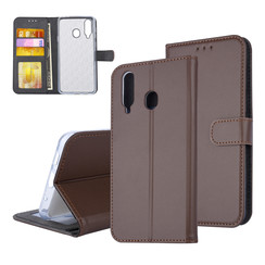 Samsung Galaxy A8s Card holder Brown Book type case for Galaxy A8s Magnetic closure
