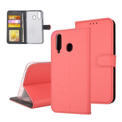 Samsung Galaxy A8s Pasjeshouder Rood Booktype hoesje - Magneetsluiting - Kunststof;TPU