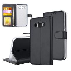 Pasjeshouder Zwart Book Case voor Samsung Galaxy J5 (2016) -Magneetsluiting -