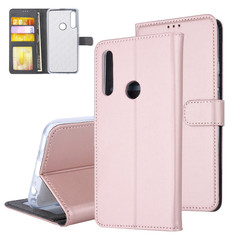 Huawei  Y9 Prime (2019) Card holder Rose Gold Book type case for  Y9 Prime (2019) Magnetic closure
