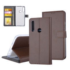 Huawei  Y9 Prime (2019) Card holder Brown Book type case for  Y9 Prime (2019) Magnetic closure