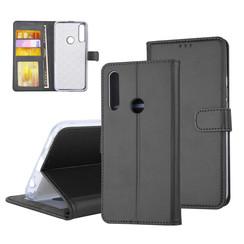 Huawei  P Smart Z Pasjeshouder Zwart Booktype hoesje - Magneetsluiting - Kunststof;TPU