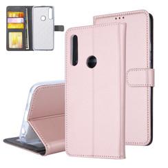 Huawei  P Smart Z Pasjeshouder Rose Gold Booktype hoesje - Magneetsluiting - Kunststof;TPU