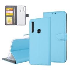 Huawei  P Smart Z Pasjeshouder Blauw Booktype hoesje - Magneetsluiting - Kunststof;TPU