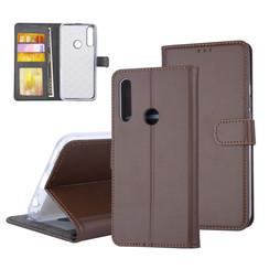 Huawei  P Smart Z Pasjeshouder Bruin Booktype hoesje - Magneetsluiting - Kunststof;TPU