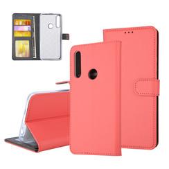 Huawei  P Smart Z Pasjeshouder Rood Booktype hoesje - Magneetsluiting - Kunststof;TPU
