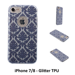 Unique motif Glitter flower Silikonhülle for iPhone 7/8 Soft and durable
