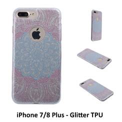 Unique motif Glitter flower Silikonhülle for iPhone 7/8 Plus Soft and durable