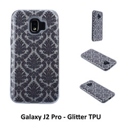 Unique motif Glitter flower Silikonhülle for Galaxy J2 Pro Soft and durable