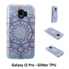 Motif unique Glitter flower Silikonhülle pour Galaxy J2 Pro Doux et durable