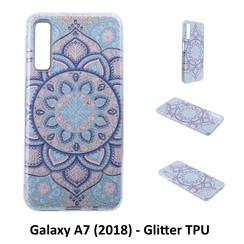 Motif unique Glitter flower Silikonhülle pour Galaxy A7 (2018) Doux et durable
