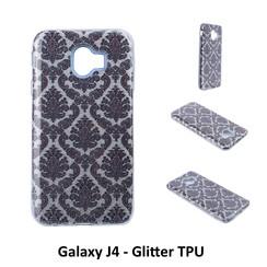 Motif unique Glitter flower Silikonhülle pour Galaxy J4 Doux et durable