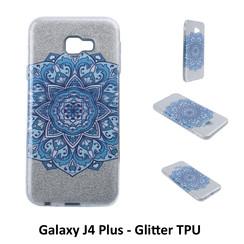 Motif unique Glitter flower Silikonhülle pour Galaxy J4 Plus Doux et durable