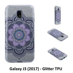 Motif unique Glitter flower Silikonhülle pour Galaxy J3 (2017) Doux et durable